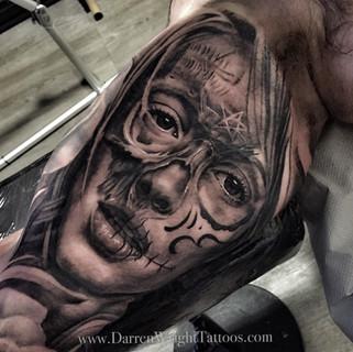 half-skull-half-girl-tattoo
