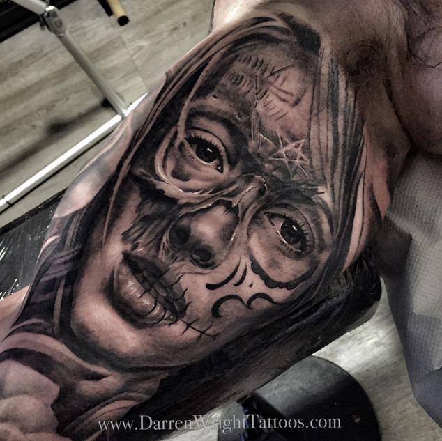 half-skull-half-girl-tattoo
