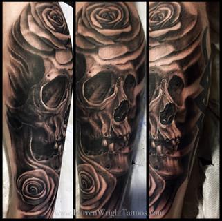 skull-and-roses-tattoo-darren-wright-tattoos