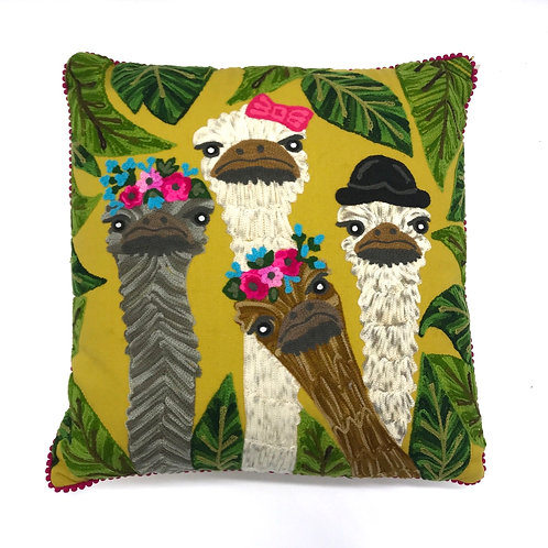 Emu Family Cushion By Ruby Star Traders