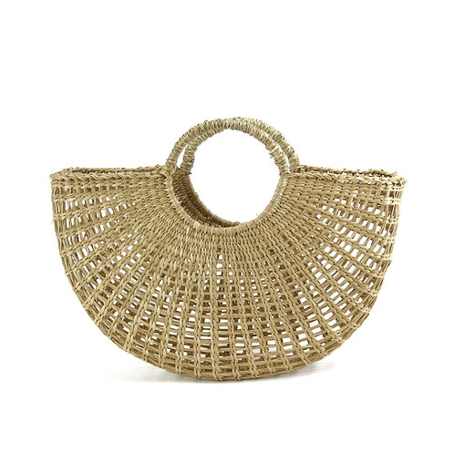 Half Circle Seagrass Basket