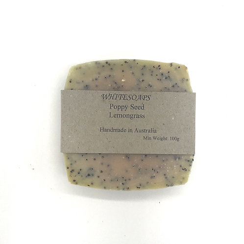 Poppyseed and Lemongrass  Soap Bar - By White Soaps