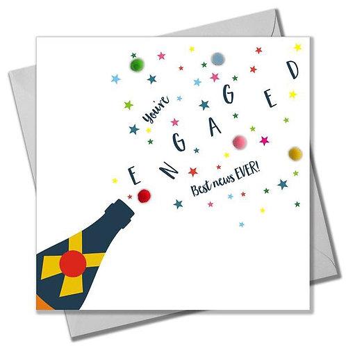 Pom Pom Card -  You're Engaged!