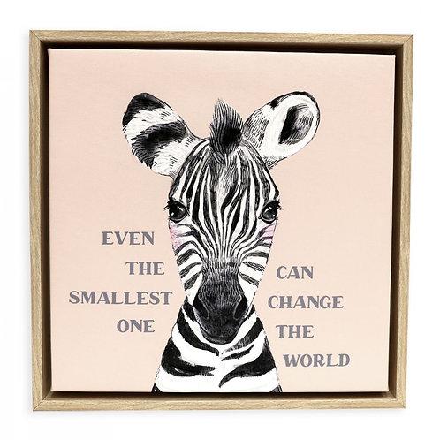 Zebra  Framed Canvas