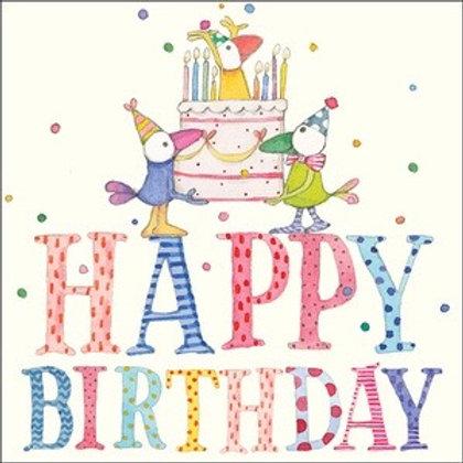 Twigseed card - Happy Birthday Cake Ducks