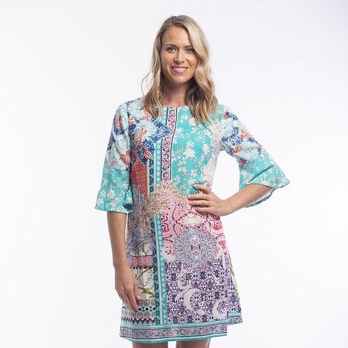 Madeira Dress Contemporary Ruffle Slv