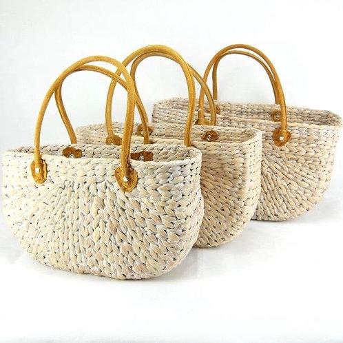 Medium Rectangular Water Hyacinth Basket