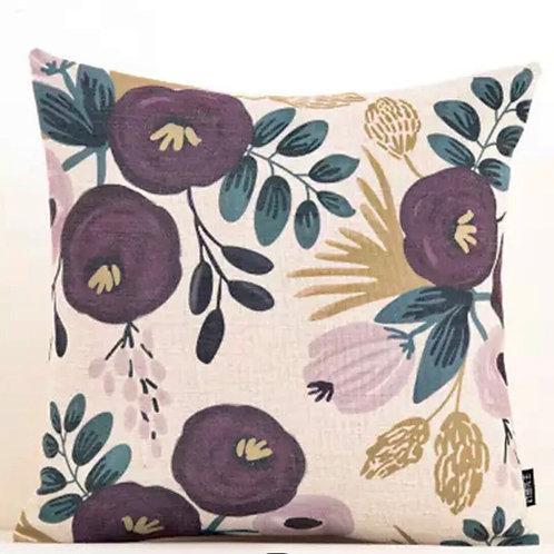 Cushion Aubergine Garden