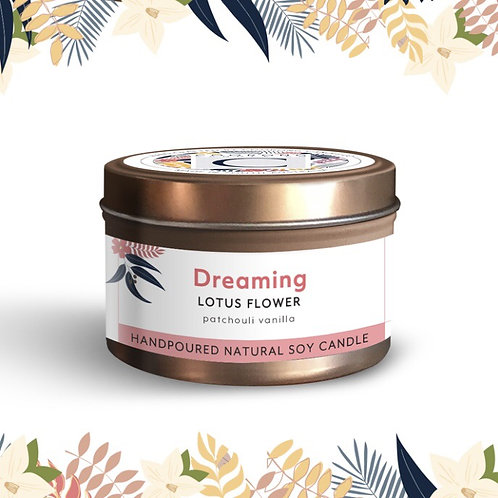 'Dreaming' Lotus Flower Soy Travel Candle