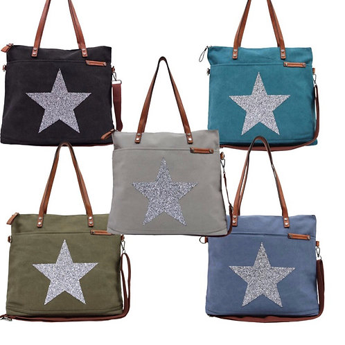 Star Power Tote Bags by Sassyduck