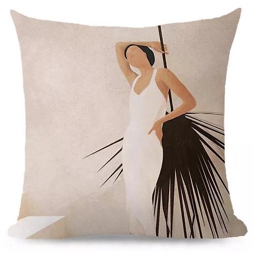 Cushion Lady Palm Leaf