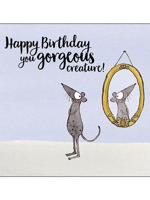 Twigseed Card - Happy Birthday Gorgeous Creature