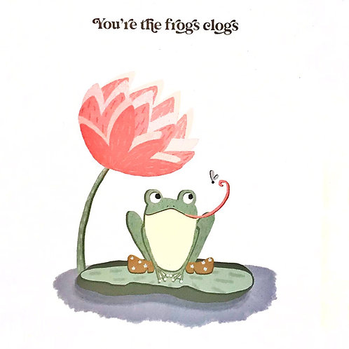 Card - Frogs Clogs