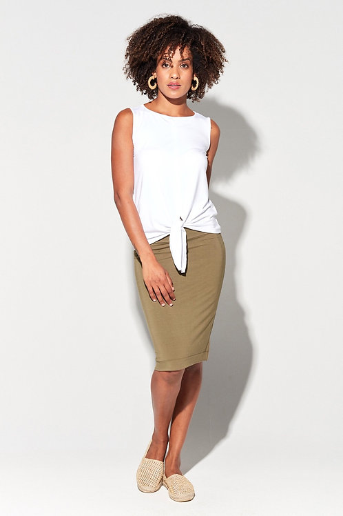 The Midi Whitney Tube Skirt