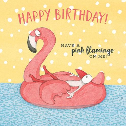 Twigseed card - Happy Birthday Pink Flamingo