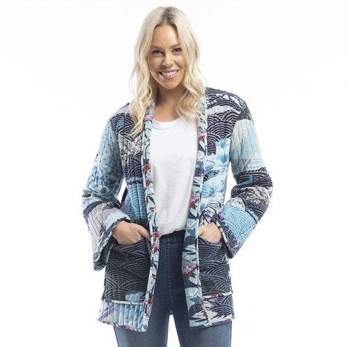 Lourdes Kimono Blue Reversible Jacket by Orientique