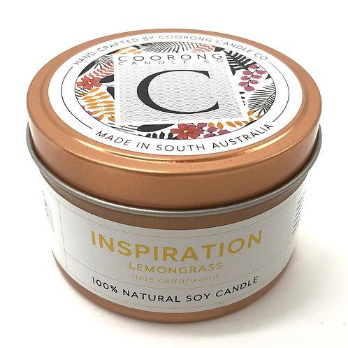 'Inspiration' Lemongrass Soy Travel Candle