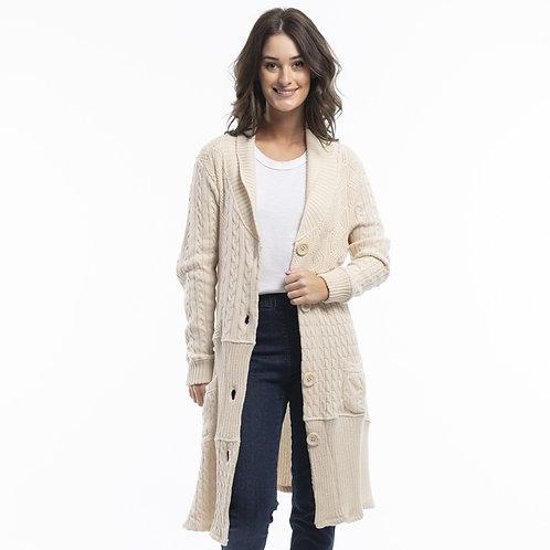 Essential Burani Mix Knit Coat by Orientique