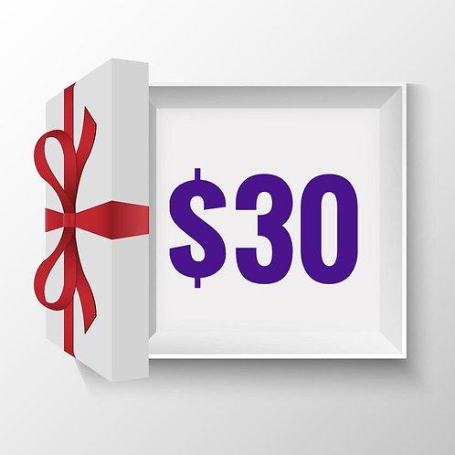 Gift Voucher $30