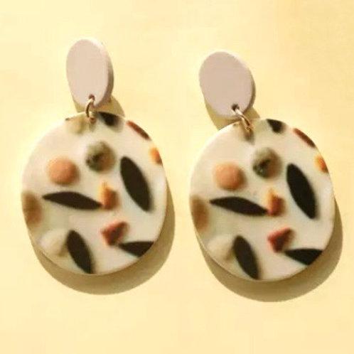 Acrylic  Earrings Dark Spots