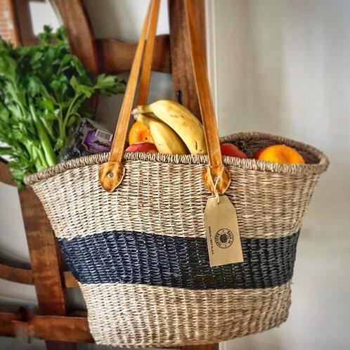 Long Handled Oval Market Basket