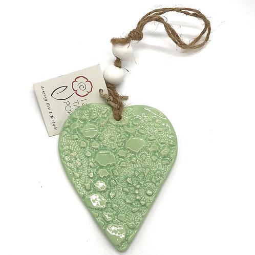Ceramic Hanging Heart Small
