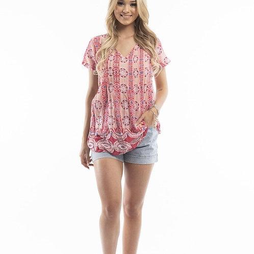 One Summer Cotton Blouse Short Sleeve