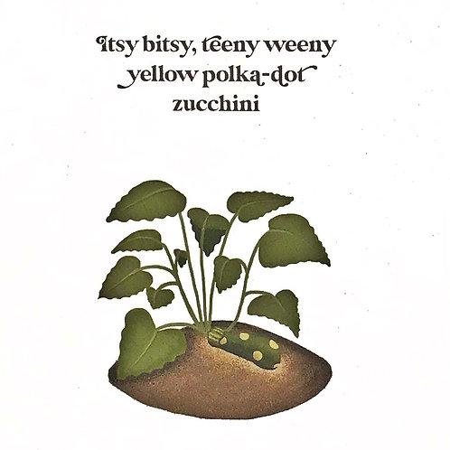 Card - Itsy Bitsy Zucchini
