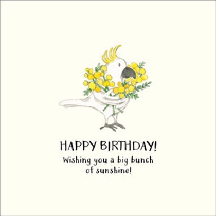 Twigseed card - Happy Birthday big bunch of sunshine