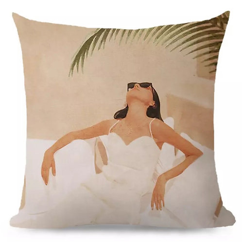 Cushion Lady Sunning