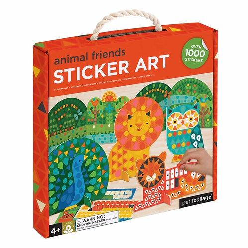 Animal Friends Sticker Art