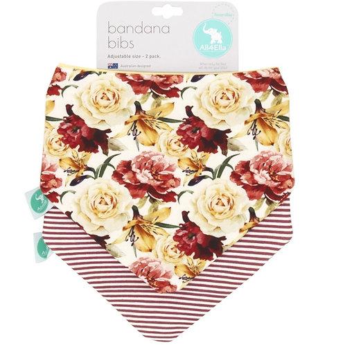 Bandana Bib 2pk - Lily Rose