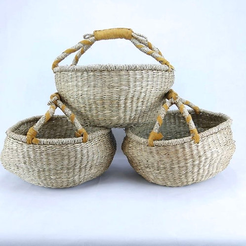 Medium Round Woven Basket