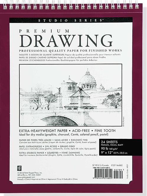 Premium Drawing Pad 9x12