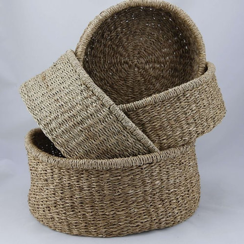 Small Low Round Seagrass Basket