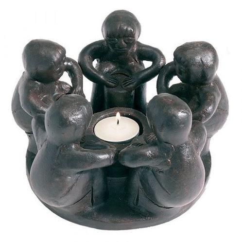 Five Circle of Friends Tea Light Holder