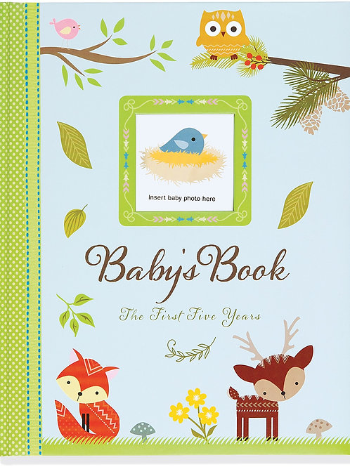 Baby's Book 5 Year Woodland Friends