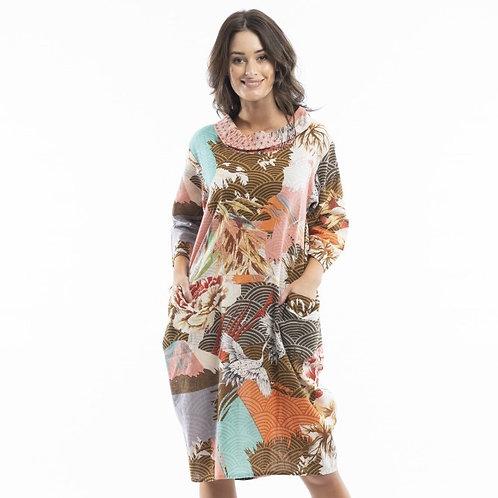 Lourdes Pink Cowel Dress by Orientique