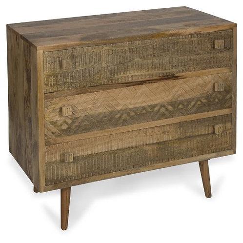 Ashanti 3 draw Mango wood cabinet
