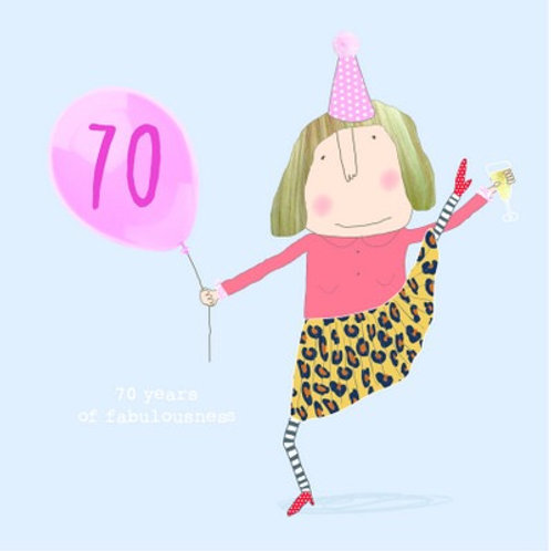 Card - 70 Years of Fabulousness