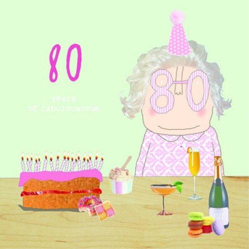 Card - 80th Girl