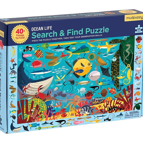 Search And Find 64 Piece Puzzles - By Mudpuppy