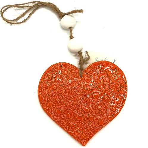 Ceramic Hanging Heart Large