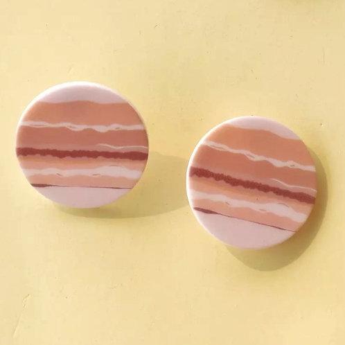 Acrylic  Earrings Soft Circles