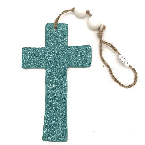 Ceramic Hanging Cross Large
