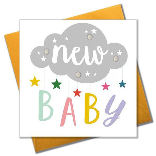 Pom Pom Card - New Baby