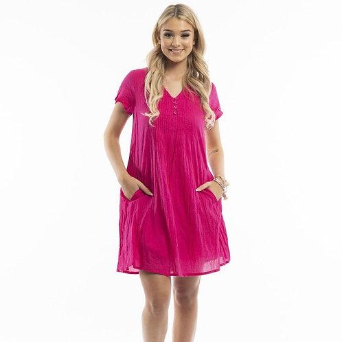 One Summer Dress Cap Sleeve Solid