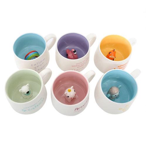 Colourful Peekaboo Mugs