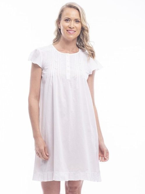 Cap Sleeve Nightie White
