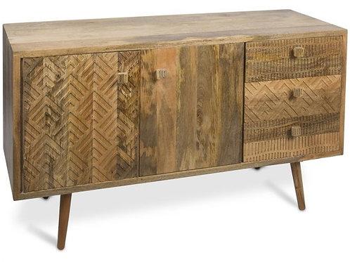 Ashanti Two Door, Three Drawer Mango Wood Cabinet